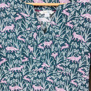 Boden Dresses - Boden Alexandra Field Fox Rabbit Print Dress 6
